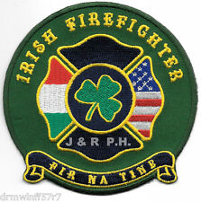 "Irish Firefighter  ""FIR NA TINE""   (4"" x 4"" size) fire patch"