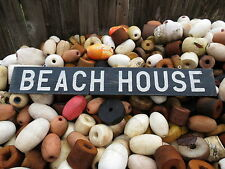 38 INCH BEACH HOUSE WOOD HAND PAINTED SIGN NAUTICAL SEAFOOD (#S523)