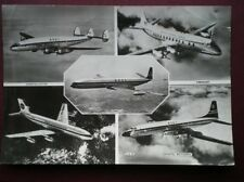 POSTCARD VARIOUS EARLY JET PLANS C1960'S