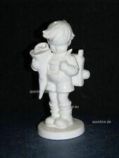 """+ww Goebel Hummel Figur, Hum 80, """"Erster Schulgang"""", weiß, Junge mit Schultüte"""