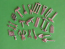 22 SP TOOLS TO BUILD A TOOL BELT CHARMS:SHOVELS,HAMMERS,SAWS,DRILLS,WRENCH &...