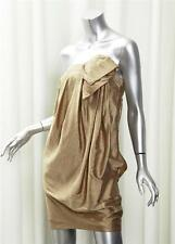 "PHILLIP LIM Womens VINTAGE GOLD ""Strapless Dress Orchid Petals"" Short Mini 0 NEW"