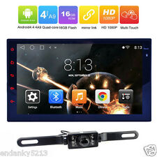 "7"" Android 4.4 Double 2Din Quad Core Car Stereo GPS Radio Wifi BT Mirror Link"