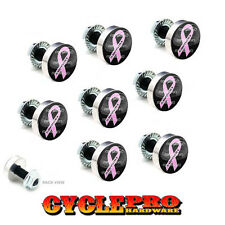 9 Pcs Billet Fairing Windshield Bolt Kit For Harley - SUPPORT PINK RIBBON - 188