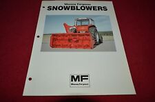 Massey Ferguson Snowblowers Dealer's Brochure DCPA