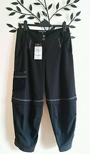 NEW Mado Et Les Autres Ladies Cropped Pinstripe Wide Trousers Lagenlook 10 ART