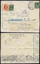 EGYPT POSTAGE DUE REDIRECTION 1939 WW2 from SHIP SS SLAMAT NETHERLANDS CENSORED