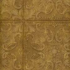 "Wallpaper Old Fashion Classic Tin Ceiling Tile Look Faux Copper 10"" Squares"