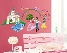 Disney princess castle Removable WALL STICKERS Kids Decal Room Home Decor DIY