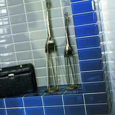 Metro 20x10cm Blue Gloss Bevelled Edge Tiles (1 Box/SQM 50 Tiles Per Box)