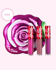 Genuine Lime Crime Fuchsia Velve-Tin Velvetine Mini Liquid Lipstick Trio Vegan