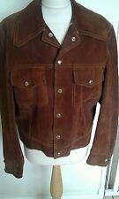 True Vintage 1970s big collar suede denim style Jacket  Chest 40 MOD