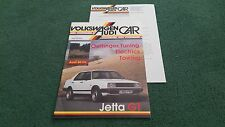 June 1986 VW AUDI CAR MAGAZINE VW Brazil Jetta GT Oettinger Audi 80 CL BROCHURE