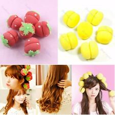 12pcs Foam Strawberry Balls Magic Soft Sponge Hair Curler Rollers Bun Round Tool
