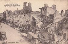 CPA GUERRE 14-18 WW1 REIMS rue de vesle camions éd thuillier