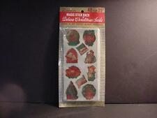 Vintage Packet of DENNISON Deluxe Foil Christmas Seals-Stickers MIP-NOS