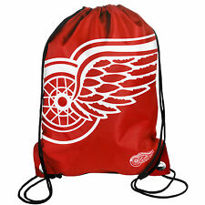 Detroit Red Wings Back Pack/Sack Drawstring Bag/Tote NHL backpack BIG LOGO