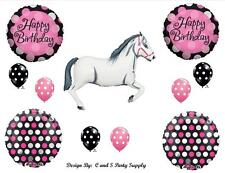 WHITE HORSE COWGIRL WESTERN BIRTHDAY PARTY BALLOONS Decorations Supplies Pink