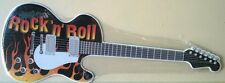 ROCK AND ROLL Guitar metal sign cut to shape  music fender gibson electric