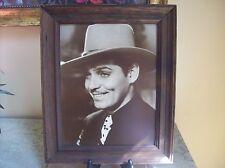 Framed Vintage Photograph of Clark Gable 14.5 X 17.5