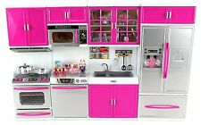 """My Modern Kitchen 32"""" Full Deluxe Kit Battery Operated Doll Kitchen Play Set"""