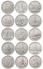 Russia 2016 - set 14 coins 5 rubles City-state capital liberated