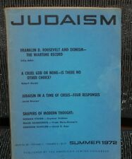 JUDAISM: A Quarterly Journal of Jewish Life & Thought: Summer 1972 * Good condit