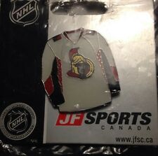 NHL Ottawa Senators White Jersey Lapel, Pin, Badge, NEW, JF SPORTS