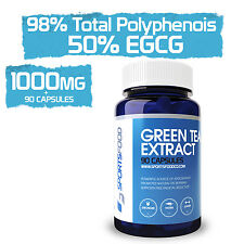 Green Tea Extract 90 x MASSIVE 1000mg Tablet, 98% Total Polyphenols, 50% EGCG