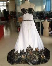 Fashion Camo Wedding Dresses Lace-Up Embroidery Camouflage Bridal Gowns Custom