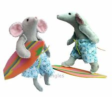 Surfing mouse felt soft toy sewing kit and pattery by pcbangles