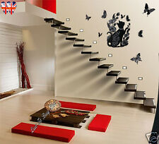 Wall Stickers , Cat Sticker With Silver Glitter and Rhinestones-S004