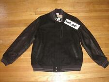 Nike Destroyer Varsity Jacket 2XL Black XXL NSW 507680-011 BNWT Leather Wool B