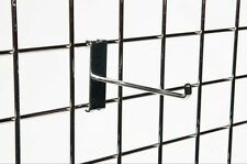 "Qty 10 - 8"" Gridwall Hooks grid panels chrome display arms"