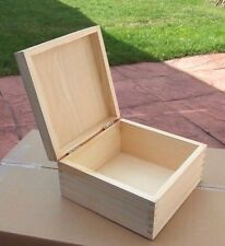 Set of ( 4 ) Plain Wood - Wooden Jewellery Storage Boxes For Art Crafts