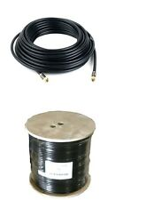 200'FT OUTDOOR BLACK Quad Shielded Direct Burial RG6 /U Coax HDTV 3GHz 18AWG