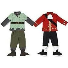 DISNEY PETER PAN CAPTAIN HOOK JAKE PIRATE REVERSIBLE PLUSH COSTUME CHILD XS 3 4