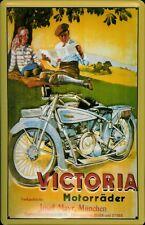 Blechschild Victoria Motorräder Motorrad Nostalgie Schild 20x30 retro Picknick