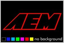 AEM outline Sticker Decal Car Racing Intake Automotive Window Vinyl Truck Decals