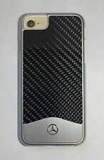Mercedes-Benz Wave V Carbon Fiber Brushed Aluminum Hard Case for iPhone 7-Black