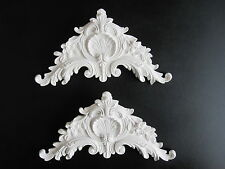 TWO BEAUTIFULL ORNATE FRENCH COUNTRY BED /MIRROR FURNITURE/PEDIMENT