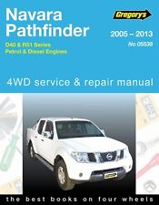 Gregory's Service Repair Manual Nissan Navara D40 Pathfinder R51 05-13 WORKSHOP