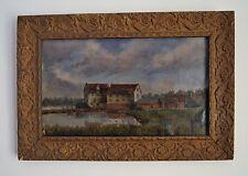 Charles Woodruffe enumerados artista pintura al óleo sobre lienzo Suffolk Escena de Río