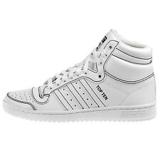 Adidas Top Ten Hi Mens F37588 White Black Leather Shoes Sneakers Size 9