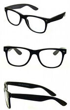 Black Gloss Optical Frames Clear Lens Glasses Geek Nerd Retro Vintage Style RF03