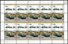 1950 RILEY RM Car 20-Stamp Sheet / Auto 100 Leaders of the World