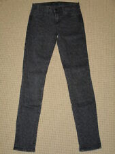 WOMENS J.BRAND JEANS SIZE 26 SUPER SKINNY IN BLACK LEOPARD