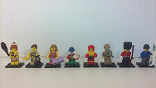 8 Lego Series 5 8805 Snowboarder Royal Guard Sleuth Clown Boxer Jane Minifigure