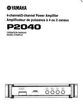 Yamaha P-2040 Amplifier Owners Manual
