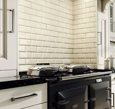 Metro 20x10cm Cream Gloss Bevelled Edge Tiles (1 Box/SQM 50 Tiles Per Box)